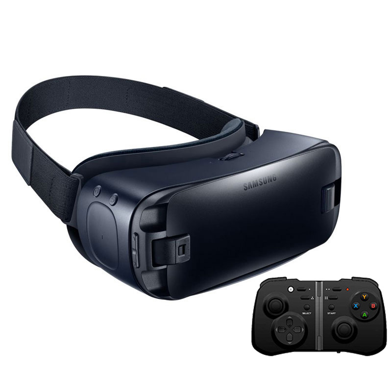 Gear VR 4.0 Virtual Reality 3D Glasses for Samsung Galaxy S9 S9Plus S8 S8+ S6 S6 Edge S6 Edge+ S7 S7 Edge + Bluetooth Gamepad сковорода блинная lara granit palermo
