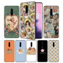 Renaissance angels Soft Black Silicone Case Cover for OnePlus 6 6T 7 Pro 5G Ultra-thin TPU Phone Back Protective