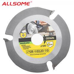ALLSOME 125 мм 3 т круговой режущий диск Мультитул шлифовальные станки пилы диск карбида наконечником древесины резка HT2327