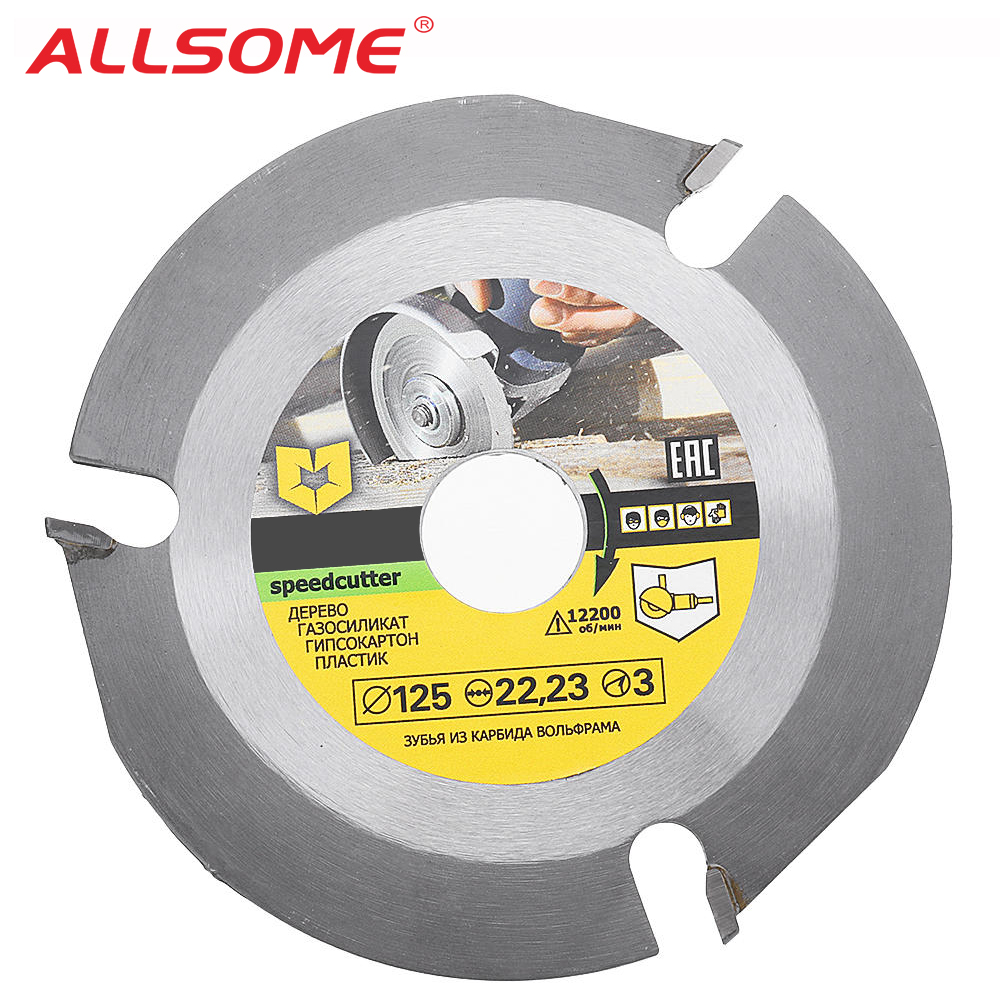 ALLSOME 125mm 3T Circular Saw Blade Multitool Grinder Saw Disc Carbide Tipped Wood Cutting Disc HT2327