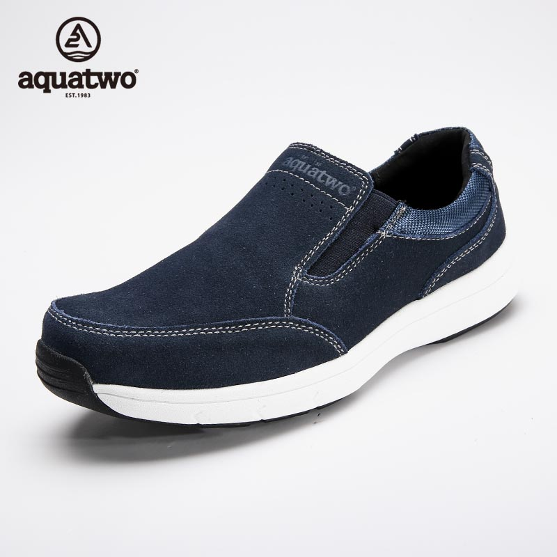 High Quality 2017 New AQUA TWO Loafer Shoes For Men Suede Leather Shoes Men Slip On Sapato Masculino US6.5-10# Casual Shoes Band high quality 2016 new brand aqua two shoes men boat shoes full grain leahter loafers shoes for men us5 5 10 casual shoes men