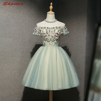 Short Lace Homecoming Dresses 8th Grade Graduation Dresses Short Prom Dresses Tulle vestido de formatura curto