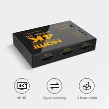 3 Ports 4K*2K HDMI Switch Full HD 1080P Video HDMI Switcher Splitter Box For HDTV Xbox PS3 PS4 DVD 3 input 1 Output HUB