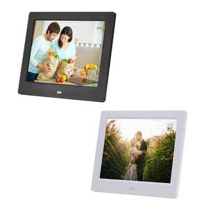 8 Inch 1024x768 Digital Photo Frame HD Timing Alarm Clock LED Display Playback