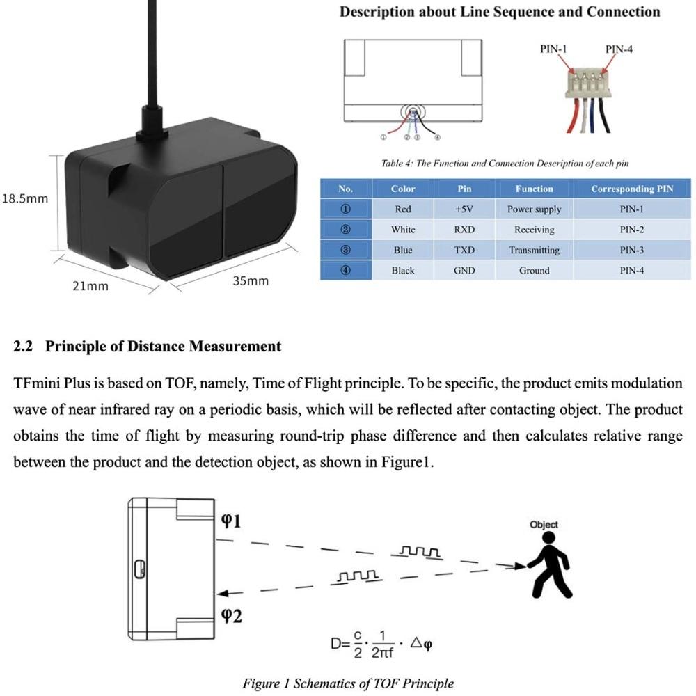 TFmini Plus Lidar Range Finder module