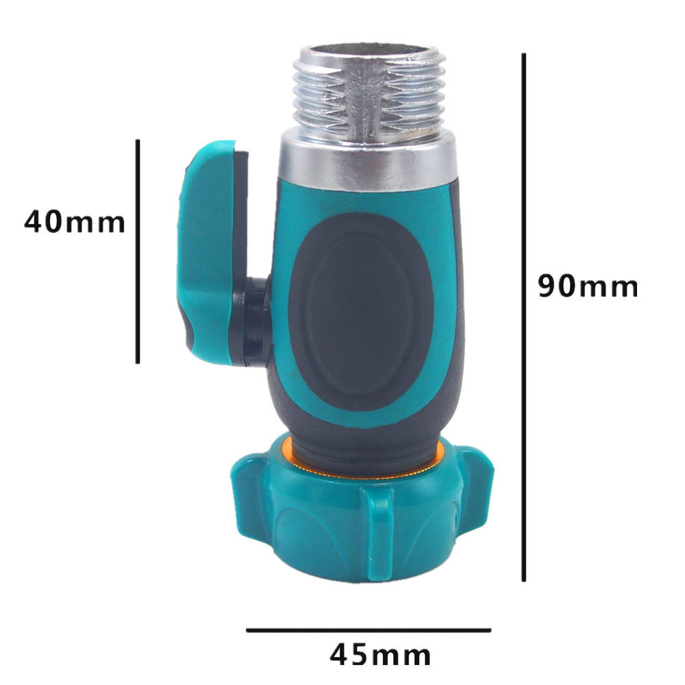 Auto wassen slang tap snelkoppeling klep tuinslang tap 1/2 kranen waterpistool adapter quick fitting adapter 1 stks 3.8