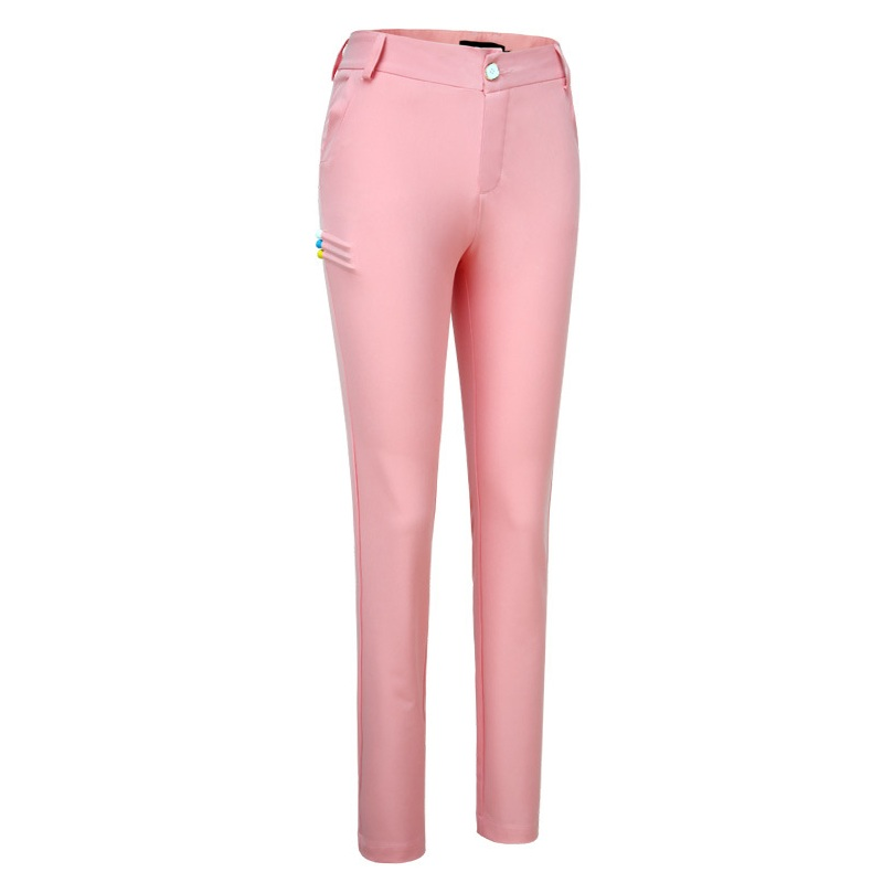 Ladies Slim Stretch Golf Pants Women Quick-Drying Trousers Hight Elasticity Slim Pant Pencil Golf Tennis Trouser XS-XL AA51868 new fashion women slim jeans casual roses embroidery pencil pants female short trousers for ladies