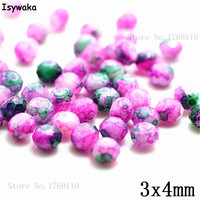 Isywaka 3X4mm 30,000pcs Rondelle Austria faceted Crystal Glass Beads Loose Spacer Round Beads for Jewelry Making NO.12