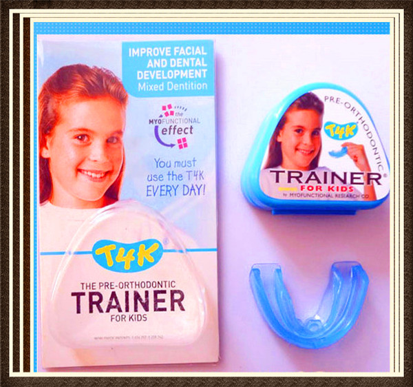 T4K Blue  Teeth Trainer Myobrace/ early mixed dentition  Pre-Orthodontic Trainer for Kids T4K/Deep bite Orhtontic Trainer T4K