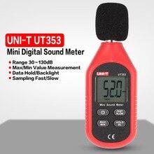 UT353 цифровой ЖК-Мини Портативный Измеритель шума уровня звука аудио датчик объема децибел контрольный тестер 30-130dB