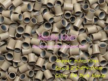 3.2*2.8*4.0mm 6 Dark blonde 1000pcs copper flared ring easily locks/copper tube micro