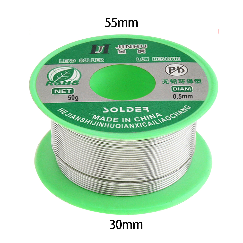 0 8mm 50g 99 7 Sn 0 3 Cu Lead free Rosin Core Solder Wire with Flux and Low Melting Point for Electric Soldering Iron in Welding Wires from Tools