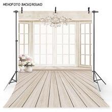 Mehofoto Windows Photography Backdrops Wood Floor Photo Booth Backgrounds Studio Newborn Backdrop CM-5370