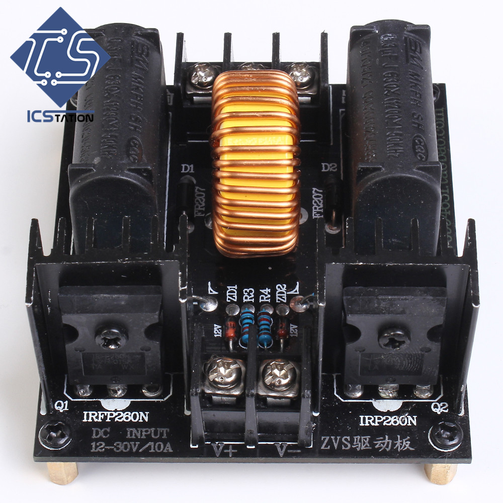 ZVS Driving Step-Up Boost Generator Driving Board For Induction Heating led step up board t87d106 00 l315h3 2ea a002a l315h3 2ea a002b