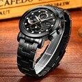 Diseño CADISEN Reloj Hombre Reloj de pulsera de Moda Reloj de Cuarzo Militar Hombres Marca de Lujo Reloj Deportivo Relogio masculino Montre Homme