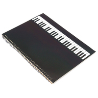 50 Pages Piano Manuscript Paper Stave Notation Notebook Spiral Bound