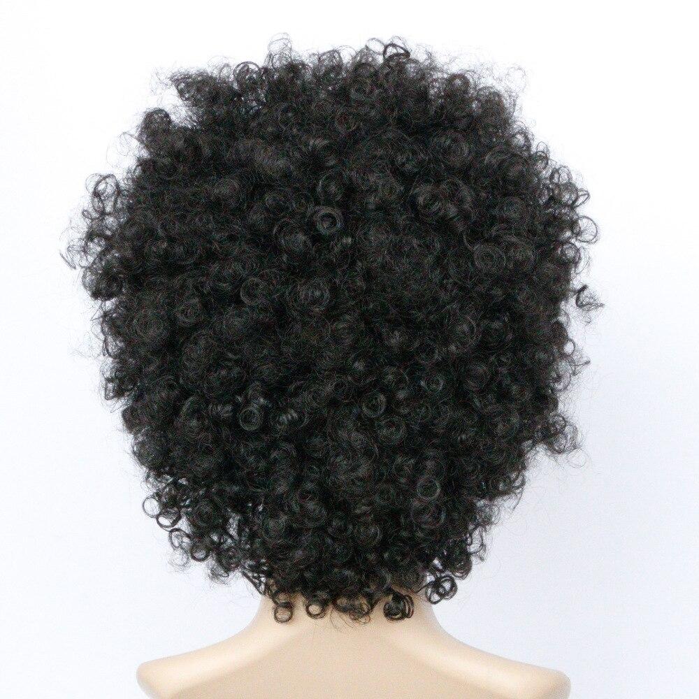 Soloowigs Bouncy вьющиеся натуральный черный полный кружева афро парики высокотемпературные  Лучший!