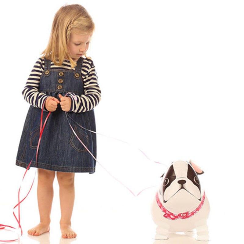 Walking Bulldog Foil Balloons Walking Animal Dogs Foil Balloons Cartoon Balloon Birthday Party Supplies Kids Toys Helium Balloon