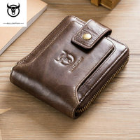 Free Engraving Name Genuine Leather Wallet Men PORTFOLIO Gift Male Perse Coin Purse Pocket Money Bag