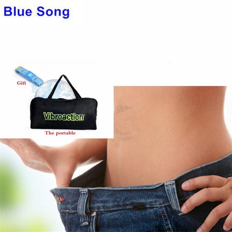 Blue Song Free Shipping Vibroaction massager machine massage vibration slimming belt massager belt High Power