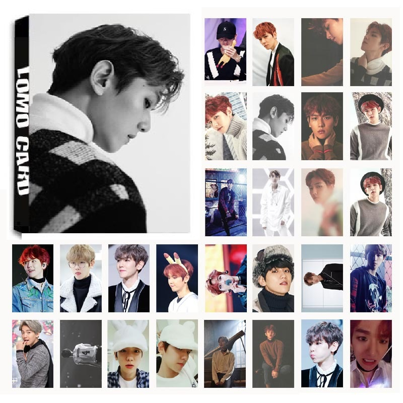30Pcs/set KPOP EXO BAEKHYUN Single 04 For Life Album HD Photo Card PVC Self Made LOMO Photocard