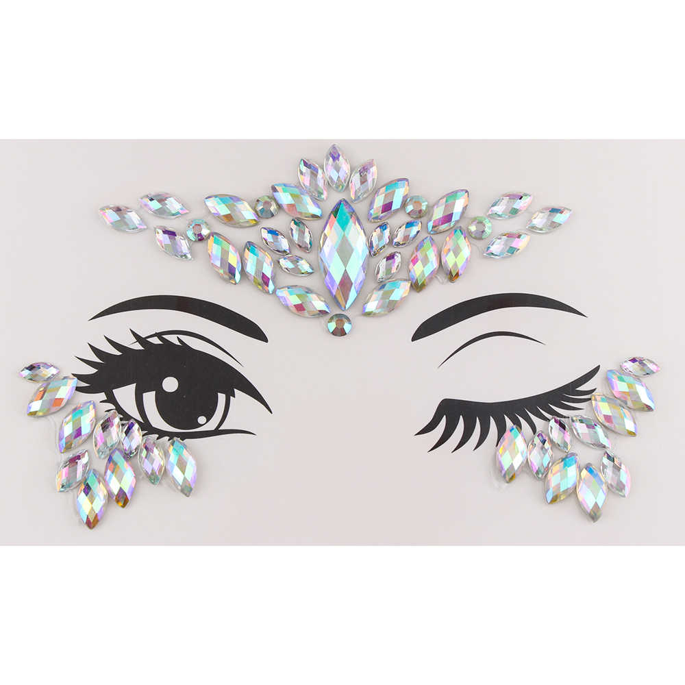 1PC temporaire tatouage visage bijoux gemmes strass décoration fête maquillage corps brillant Festival Flash tatouages corps Art autocollants