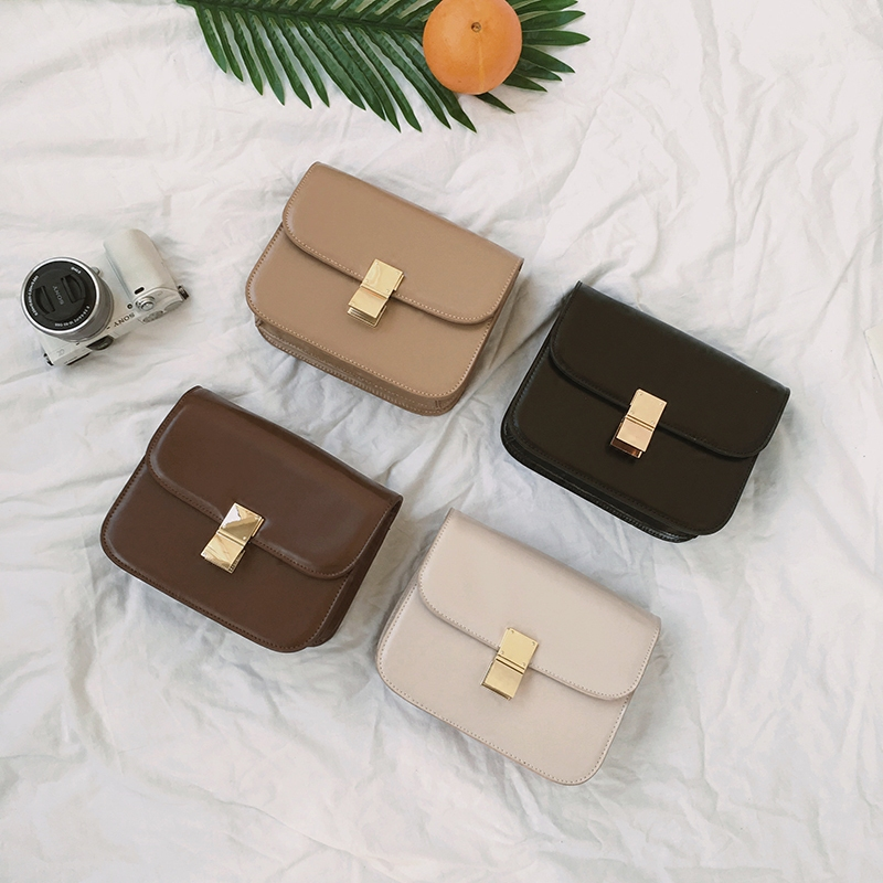 2018 Korea Japan Fashion Women Crossbody bags PU Leather Ladies Shoulder Bag Mini Flat Bags S183