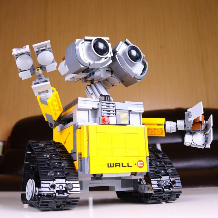 687 Pcs <font><b>Legoings</b></font> Ideas WALL E Building Blocks Robot Model Building Kit Bricks Toys Children Compatible <font><b>21303</b></font> image