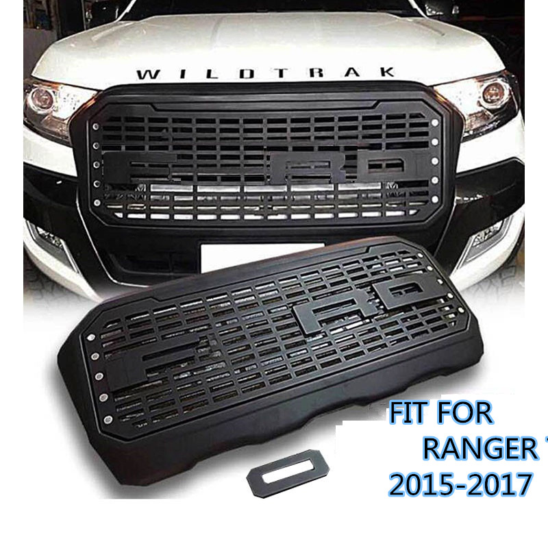 CITYCARAUTO ABS MATTE BLACK FRONT GRILLE LED GRILL RACING GRILLS FIT FOR font b RANGER b