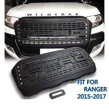 CITYCARAUTO ABS MATTE BLACK FRONT GRILLE LED GRILL RACING GRILLS  FIT FOR RANGER T7 WILDTRAK PICKUP CAR 2015-2017