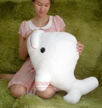 big lovely plush white toy big head dolphin toy stuffed whale doll gift about 72cm