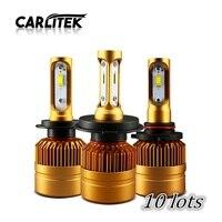 10 lotes LED H4 H7 Faros Lámpara Del Coche Bombillas H11 H8 H9 H1 H3 Automóviles ZES Chip 8000LM LED Light Mejor Precio Al por Mayor