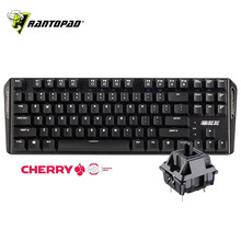 все цены на Rantopad MXX Mechanical Gaming Keyboard 87 Keys White Backlit Cherry MX Switch Black Aluminum Cover N-Key Rollover онлайн