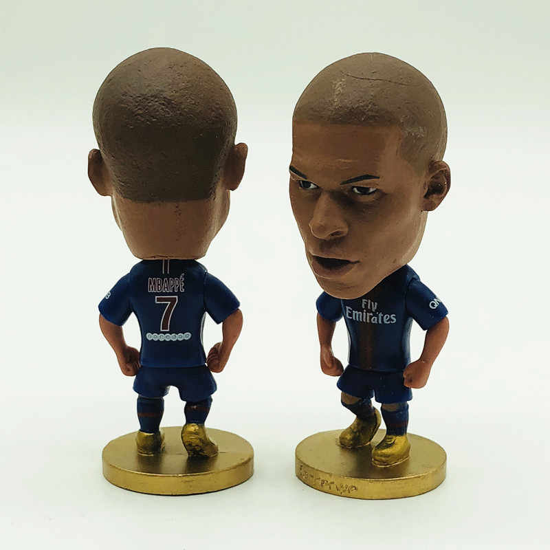 new styles f64aa d4864 Soccerwe Soccer Star 7 Kylian Mbappe Doll Paris Saint Club 2019 Blue Kit