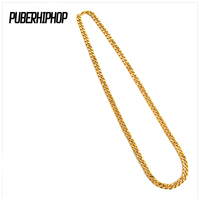 JFY Gold Chain 90cm Curved Long Gold Vacuum Plated Necklace Hip Hop Unisex Jewelry New