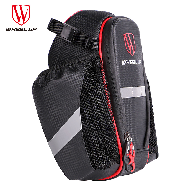 WHEEL UP 2017 New Hot Sale 900D 2 Pockets Bike Bag Bicycle Seat Post Bag MTB Road Mountain Bike Seat Rear Tail Pouch Bottle Bags in Bicycle Bags Panniers from Sports Entertainment