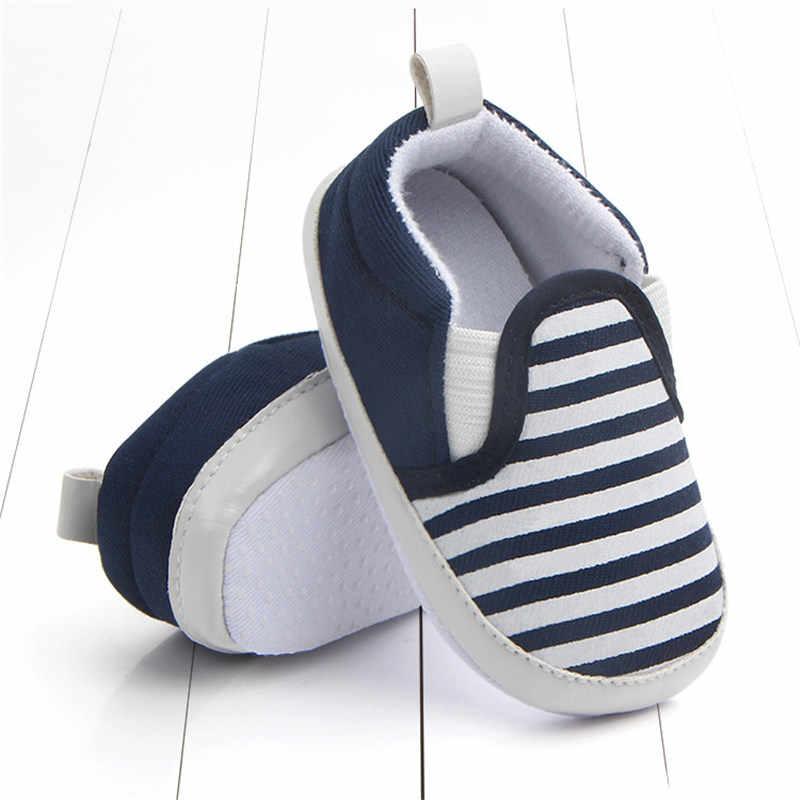 Bebé niños zapatos antideslizantes rayas niños pequeños primeros caminantes bebés zapatos niñas recién nacido cuna Infantil zapatos infantiles