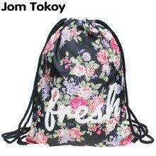 2016 новый женский мода рюкзак 3D печать путешествия книжное производство женщины mochila шнурок сумка мужские рюкзаки камелии девочек