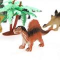 12 pçs/lote Mundo Jogar Brinquedos Conjunto de Brinquedos de Plástico Dinossauro Jurassic Park Dinossauro Ação Modelo Figuras & Melhor Presente para Os Meninos