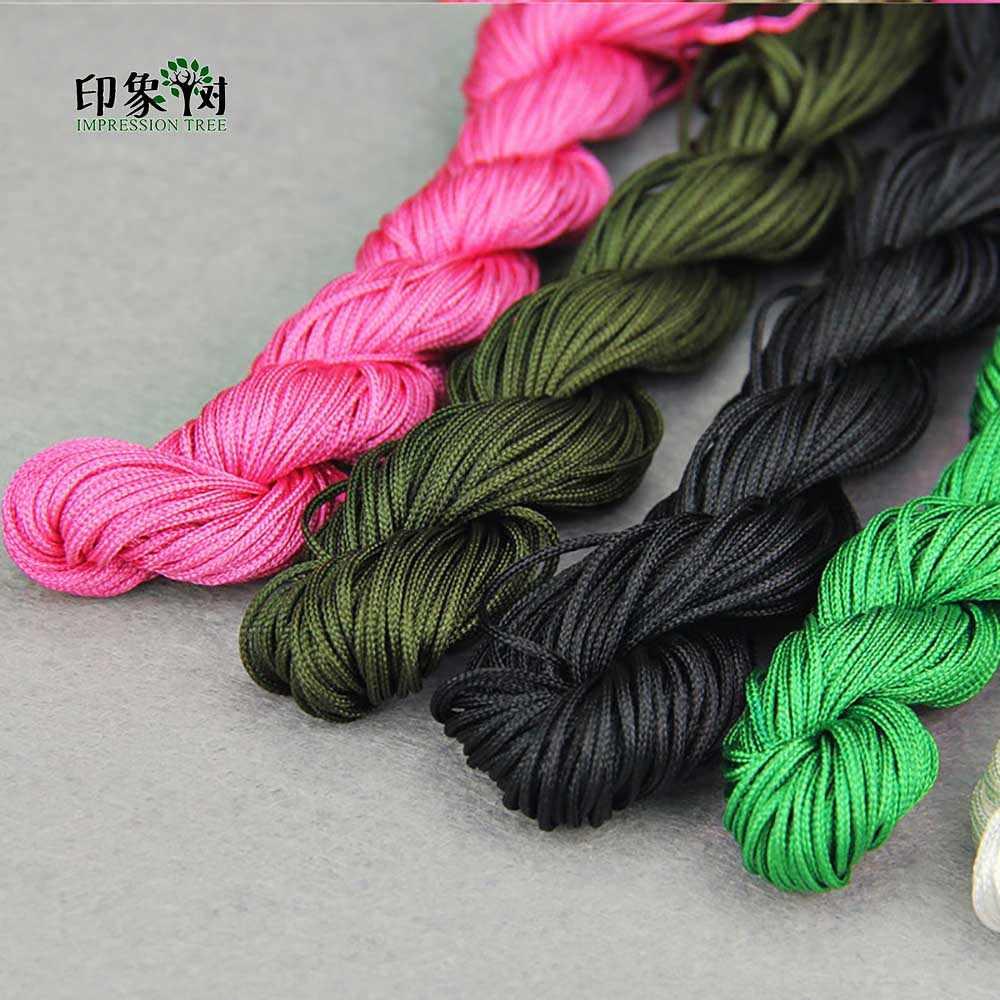 1 шт. длина 24 м * 1 мм Разноцветные нейлоновые веревки для макраме DIY кисточка браслет для бисероплетения китайские узлы нить для изготовления ювелирных изделий 404