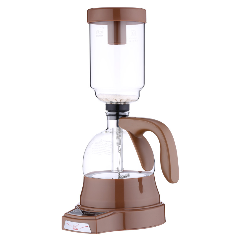 Electric Japanese Style Siphon coffee maker 3 cups vacuum Coffee machine Brewer Drip Tea Siphon Glass Pot filter EU US plug