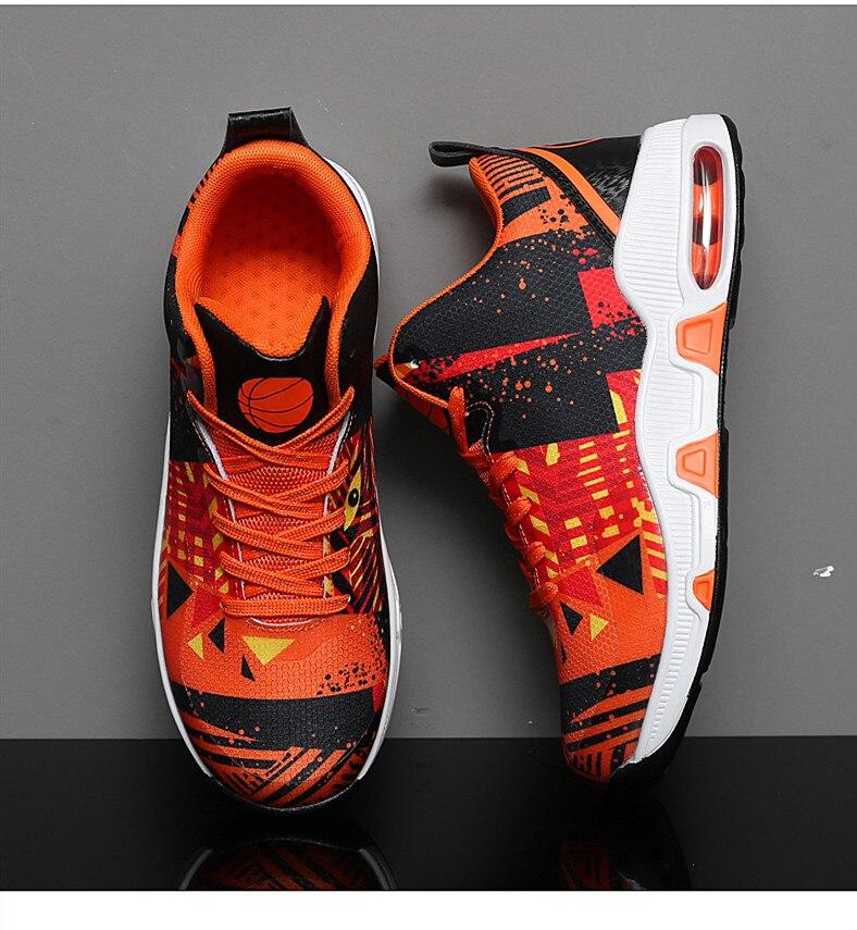 Plus Size 35-46 Sport Fashion Sneakers Women Breathable Geometric Basket Female Men's Casual Shoes Air Cushion Sneakers NX013 (19)