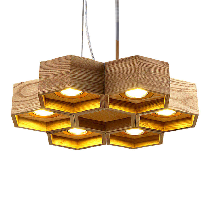 Wood Honeycomb LED Modern Wooden Pendant Lamp Indoor Dining Room Foyer Home  Adornment Pendant Light 110 - Compare Prices On Honeycomb Pendant Light- Online Shopping/Buy Low