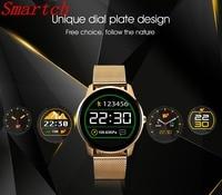 Smartch F1 Bluetooth Smart Watch 1.22 pulgadas IPS HD display deportes negocios reloj del ritmo cardíaco Monitores para ios android PK k88h