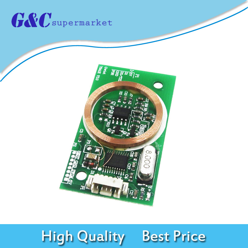 RFID Reader Wireless Module UART 3Pin 125KHz EM4100 DC 5V 8CM for IC Card  for Arduino