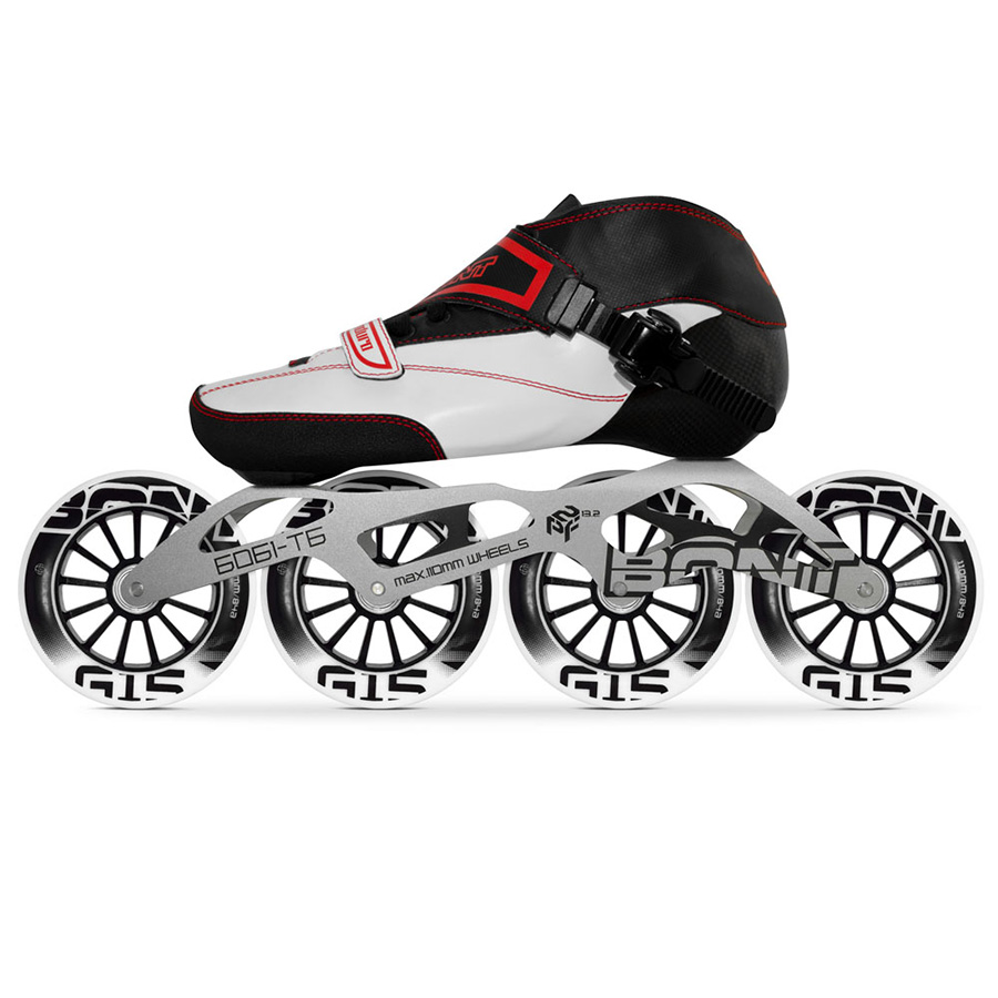 100% Original Bont Enduro 2PT vitesse patins à roues alignées thermomoulable en Fiber de carbone Boot 6061 cadre 4*90/100/110mm G15 roues Patines