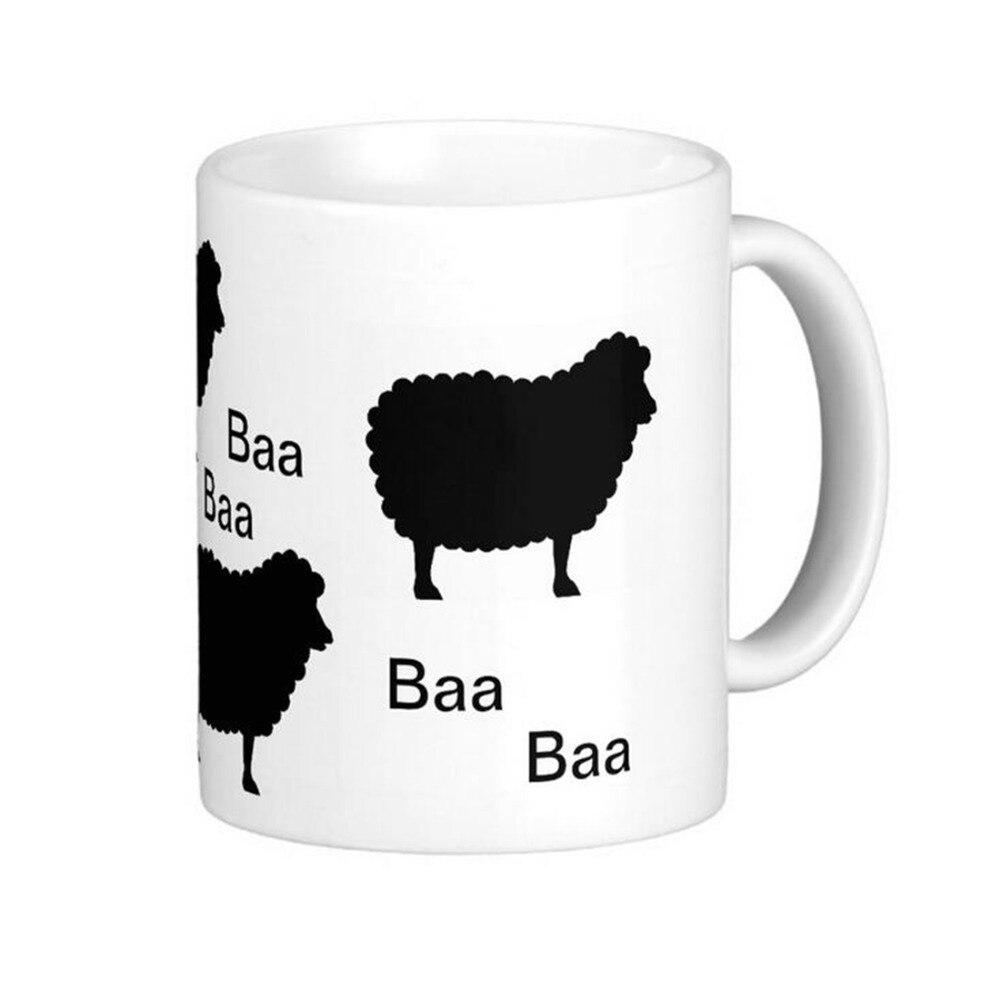 ᑐBaa Baa Ovejas Negro Blanco de Alta Calidad Tazas de Café Taza de ...