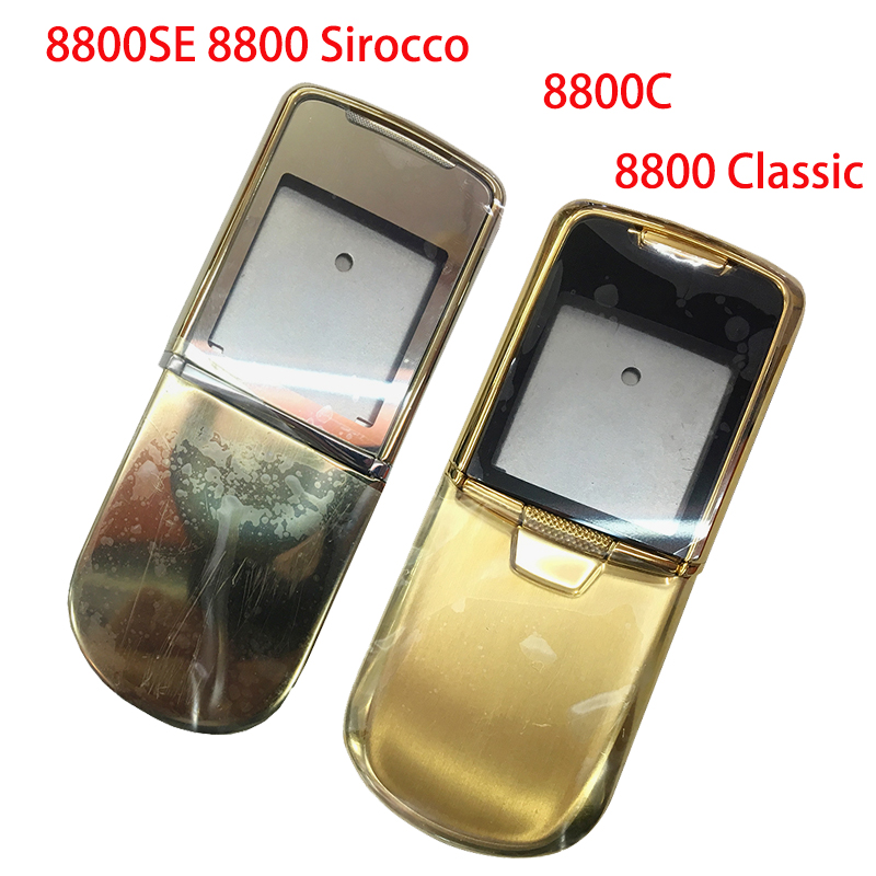 For <font><b>Nokia</b></font> <font><b>8800</b></font> Sirocco 8800SE Metal Full Housing For <font><b>8800</b></font> Clasic Metal Full Housing English / Russian Keypad In Stock With Logo image