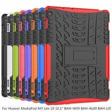 "Pour Huawei MediaPad M3 Lite 10 10.1 ""BAH W09 BAH AL00 BAH L09 Housse Robuste Hybride Robuste Durable Funda Coque + stylo"