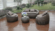 4-pcs PE wicker poly rattan pool furntiure Pastoralism Home Indoor / Outdoor Rattan Sofa For Living Room